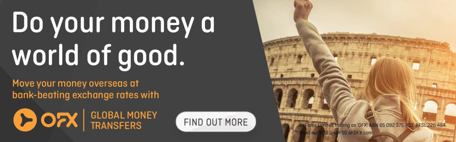 Do your money a world of good - OFX Global transfers