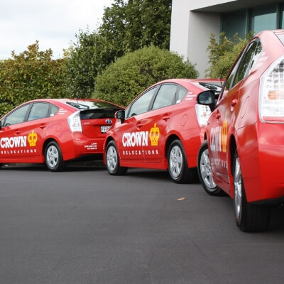 Crown's hybrid-vehicles - use of low emission car and truck technology.