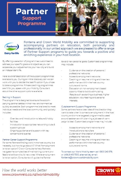 Fonterra and Crown World Mobility